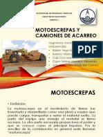 Motoescrepas y Camiones de Acarreo