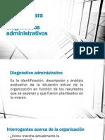Diagnósticos administrativos