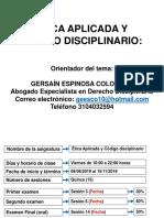 Etica Aplicada y Codigo Disciplinario (1)