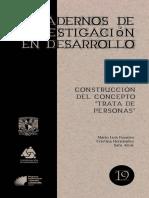 Cuadernos de Investigación en Desarrollo Construcción Del Concepto de Trata