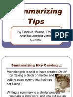 summarizingtips-100408035949-phpapp01