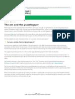 LGIM - Future World Blog - The Ant and the Grasshopper