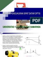 Metode Pengukuran Sipat Datar Optis