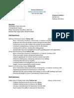 fieldwork experience packet resume
