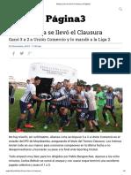 Alianza Lima Se Llevó El Clausura _ Página3