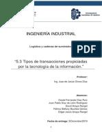 5.3 Tipos de Transacciones Propiciadas Por La Tecnología de La Información