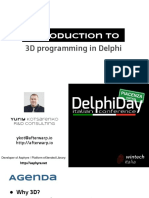 Introduction to 3D programming in Delphi