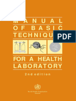 Manual of Basic Techniques for a Health Laboratory (Part1) - WHO