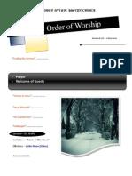 Order of Worship 11 28 2010 v1