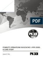 STABILITY OPERATIONS IN KOSOVO 1999-2000