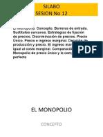 SESION 12 EL MONOPOLIO