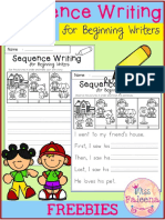 Sequence Writing for Beginning Writers