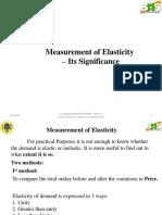 EecaMeasurement of Elasticity – Its Significance
