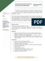 Programme Seminaire Securite Reseau SI