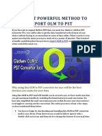THE MOST POWERFUL METHOD TO EXPORT OLM TO PST