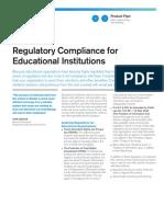 Regulatory Compliance Education Flyer