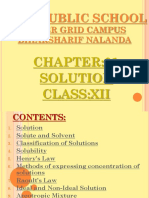 Chemistry Ppt Solution