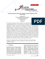 Identifying Distinctive Organisational  Competence in global a textile Complex