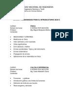 Contenidos Del Introductorio 2019-1