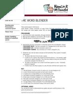 The Word Blender