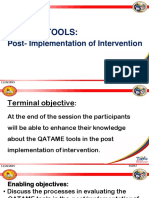 7 QATAME Tools Post Implementation Final