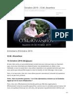 Messagescelestes.ca-entretiens Du 15 Octobre 2019 OM AĂŻvanhov