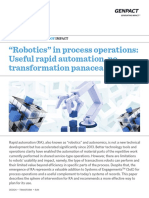 Robotics in Process Operations Useful Rapid Automation No Transformation Panacea