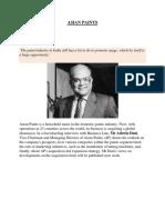 ASIAN PAINTS-company Profile