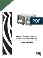 Zebra Printer Z4M,Z6M User Manual