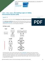 1oo1, 1oo2, 2oo2, 2oo3 Voting Logics in Safety Instrumented System (SIS) - Safety Instrumented System - SIS - Instrumentation Forum.pdf