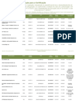 Lista Empresas Servico Certificado Regulamentos