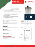 6091 Automatic Airventvalve Datasheet
