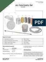 Basic Calorimetry Set Manual TD 8557B