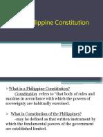 The Philippine Constitution Report