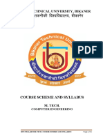 M. Tech. Computer Engineering Scheme and Syllabus