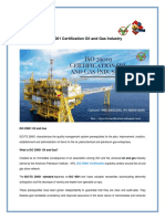 ISO 29001 Certification Oil and Gas Industry