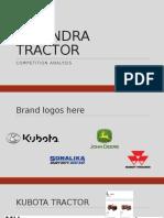 Mahindra Tractor- Comp Analysis