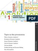 Business Analytics Introduction