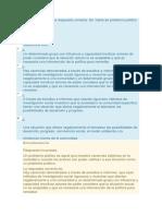 Unidad 1. Cuestionario Politicas Públicas