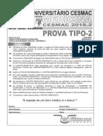 Cesmac-prova e Gabarito 1ºdia Tipo2 Medicina Cesmac 2018.2-1