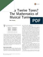 Why Twelve Tones? the Mathematics of Musical Tuning
