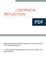 1.4 Do a Philosophical Reflection on a Concrete Situation From a Holistic Perspective