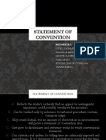 Statement of Convention