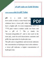 Ph Value Chem Prar