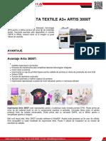 Imprimanta Textile a3 Artis 3000t Z Spot Media SRL