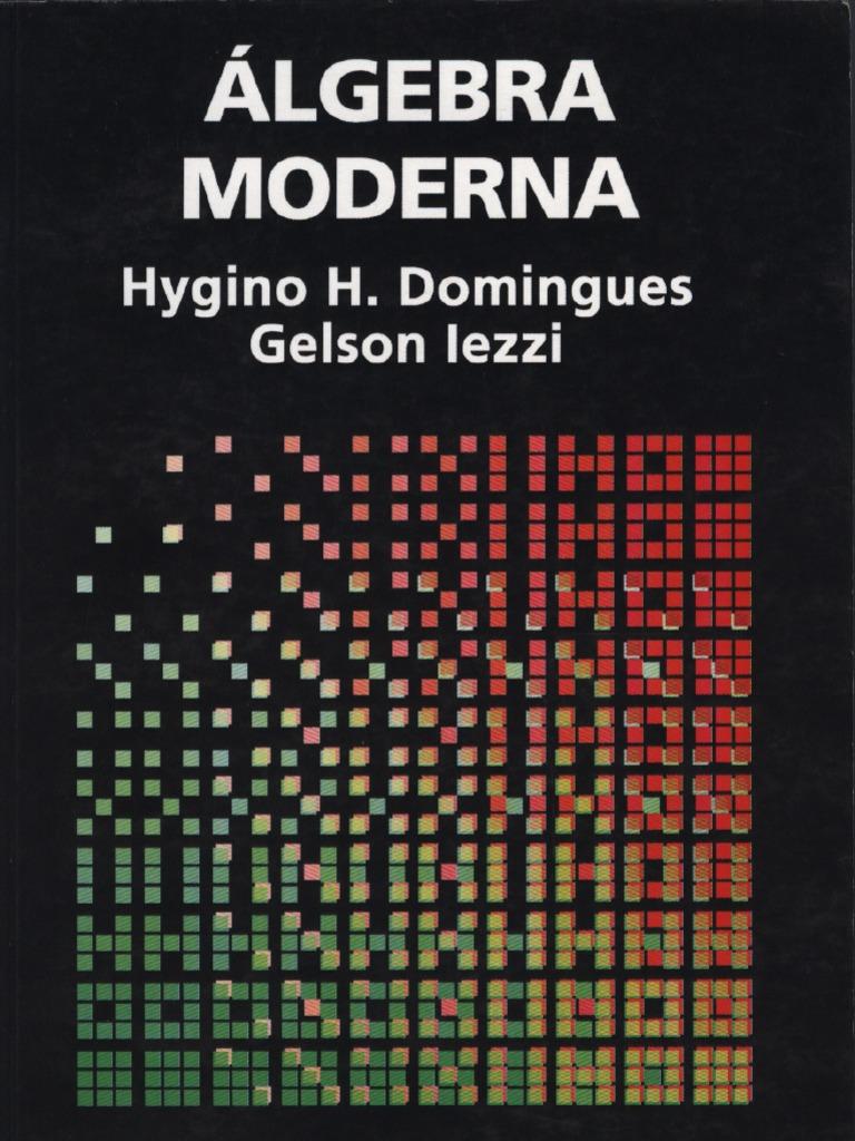 Algebra moderna domingues iezzi fandeluxe Gallery