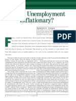 Is Low Unemployment Inflationary