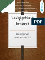 Deontologia Profesiunii de Kinetoterapeut