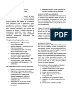Governance Practices and Regulation Corporate Social Reponsibilities and Development of Boards