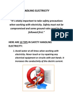Safety in Handling Electricity